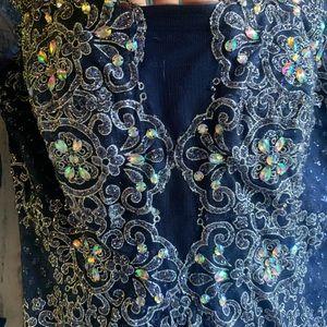 Black Label Dresses - BLACK LABEL Vintage Sequined Ball Gown 12 EUC